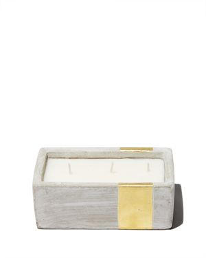 Paddywax Urban Concrete Rectangle Gold Amber & Smoke Candle