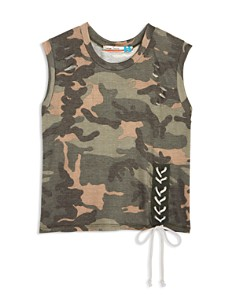 Vintage Havana Girls' Distressed Camo-Print Tank - Big Kid - Bloomingdale's_0