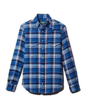 Gitman Vintage Plaid Heavy Flannel Regular Fit Shirt