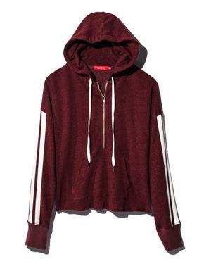 n Philanthropy Electra Striped-Sleeve Hooded Sweatshirt - 100% Exclusive