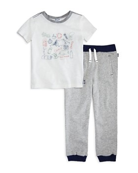Splendid - Boys' Camp Tee & Terry Jogger Pants Set - Little Kid