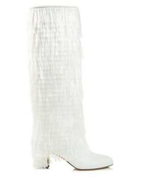 9a3619e5356 ... Jimmy Choo - Women s Magalie 65 Fringed Leather High Block-Heel Boots