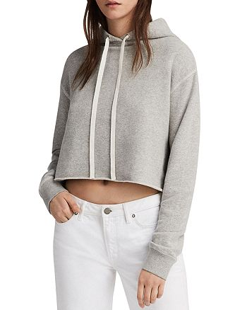 ALLSAINTS - Mila Cropped Hooded Sweatshirt