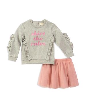 kate spade new york Girls Skirt the Rules Sweatshirt  Tulle Skirt Set  Little Kid