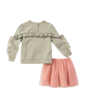kate spade new york - Girls' Skirt the Rules Sweatshirt & Tulle Skirt Set - Little Kid