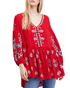 Free People - Arianna Embroidered Tunic
