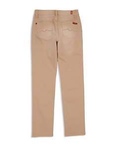 7 For All Mankind - Boys' Stretch Twill Slim-Fit Pants in Khaki - Little Kid