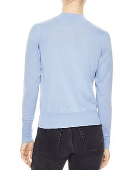 Sandro - Espoir Wool Heart-Detail Sweater