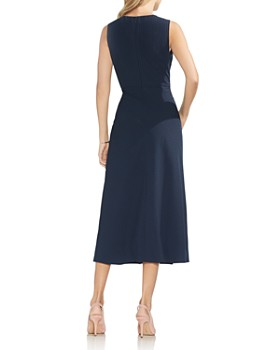 VINCE CAMUTO - Sleeveless Pinstriped Midi Dress