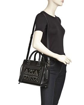 Rebecca Minkoff - Bree Medium Top-Zip Leather & Suede Satchel
