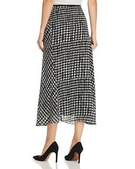 Theory - Draped Dot-Print Skirt