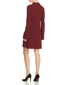 Theory - Flared-Sleeve Crepe Dress