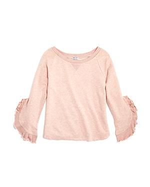 Splendid Girls' Bell-Sleeve Terry Sweatshirt - Big Kid