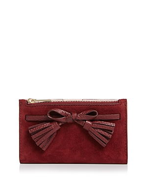 kate spade new york Hayes Street Suede & Leather Wallet