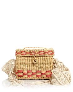 Nannacay - Roge Small Macrame-Strap Straw Shoulder Bag