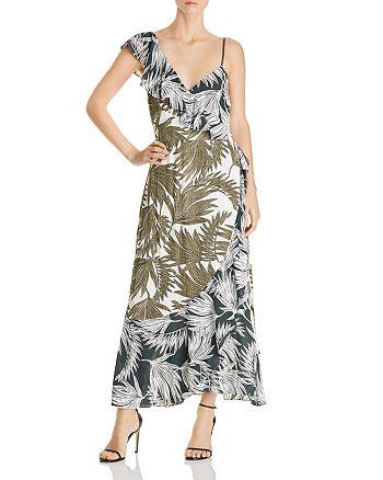 1.STATE - Ruffle Shoulder Wrap Maxi Dress