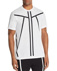 BLACKBARRETT by Neil Barrett - Tape-Stripe Graphic Tee