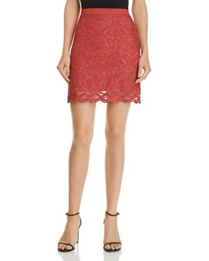BAND OF GYPSIES AUGUS LACE MINI SKIRT