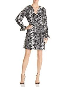 Le Gali - Loma Snake-Print Ruffle Dress - 100% Exclusive