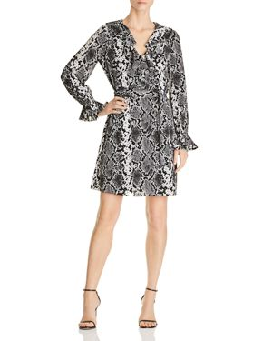 Le Gali Loma Snake-Print Ruffle Dress - 100% Exclusive