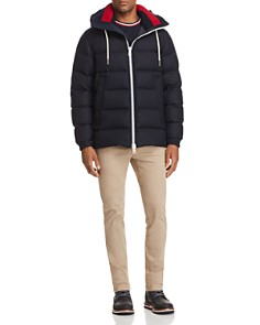 Moncler - Gartempe Knit Collar Down Jacket, Ringer Tee & Chino Pants