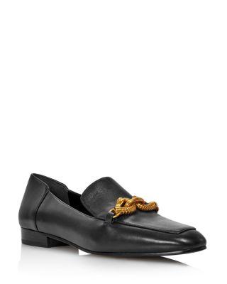 Women's Jessa Almond Toe Leather Loafers by Tory Burch