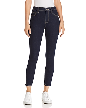 Current/Elliott The Stiletto High-Rise Cropped Skinny Jeans in 0 Clean Stretch Indigo