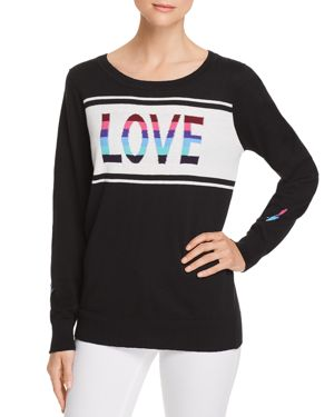 CHASER LOVE INTARSIA SWEATER