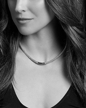 "LAGOS - 18K Yellow Gold & Sterling Silver Diamond Lux Black Diamond Necklace, 18"""