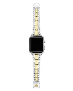 LAGOS - 18K Yellow Gold & Sterling Silver Smart Caviar Apple™ Smartwatch Strap - 100% Exclusive