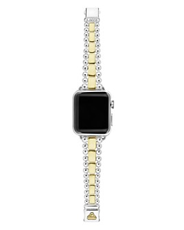 LAGOS - 18K Yellow Gold & Sterling Silver Smart Caviar Apple™ Smartwatch Strap
