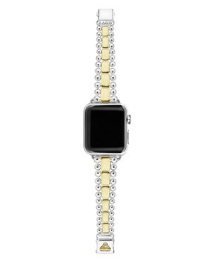 Lagos 18K Yellow Gold & Sterling Silver Smart Caviar Apple Smartwatch Strap - 100% Exclusive