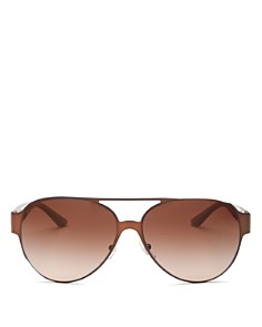 Tory Burch - Women's Brow Bar Aviator Sunglasses, 58mm