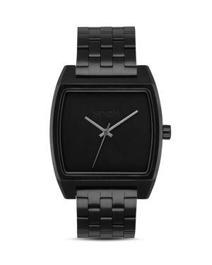NIXON TIME TRACKER BLACK WATCH, 37MM X 37MM