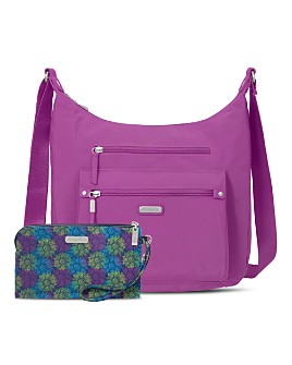 Baggallini - Classic Day Trip Hobo Bag with RFID Phone Wristlet