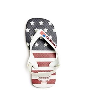 havaianas - Unisex USA Flag Slingback Flip-Flops - Walker, Toddler