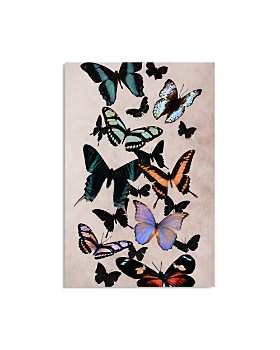 "Art Addiction Inc. - Moody Butterflies Wall Art, 30"" x 20"" - 100% Exclusive"