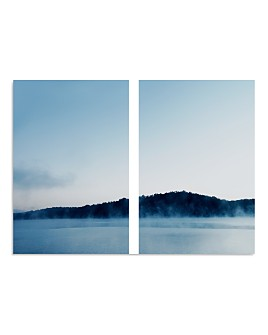 "Art Addiction Inc. - Blue Hue Water Diptych Wall Art, 36"" x 24"""