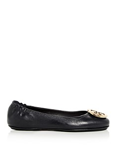 Tory Burch - Women's Minnie Leather Travel Ballet Flats