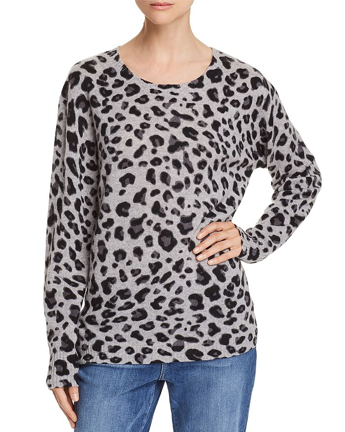 C by Bloomingdale's - Leopard Print Cashmere Sweater - 100% Exclusive