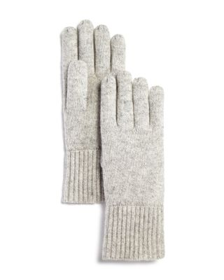 Chunky Rib Trim Cashmere Gloves   100% Exclusive by C By Bloomingdale's