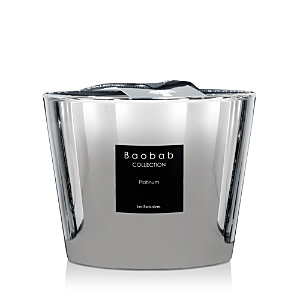 Baobab Collection Platinum-Finish Candle, Max 10