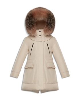 Moncler - Girls' Marion Fur-Trimmed Down Parka - Big Kid ...