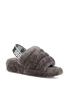 UGG® - Women's Fluff Open Toe Fur Slide Slippers