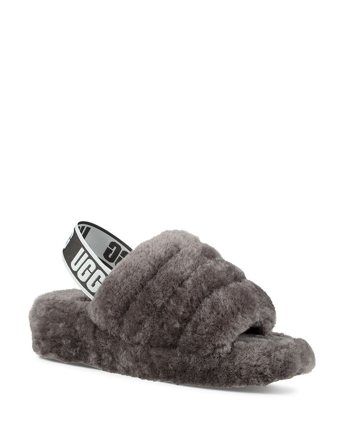 702991b451e Women's Fluff Open Toe Fur Slide Slippers