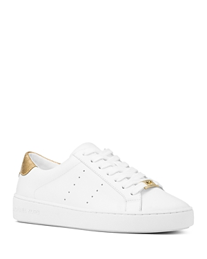 Michael Michael Kors Women's Irving Lace Up Leather Sneakers
