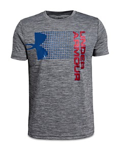 Under Armour - Boys' Heathered Crossfade Logo Tee - Big Kid