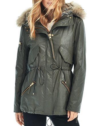 SAM. - Mini Tribeca Fur Trim Convertible Parka