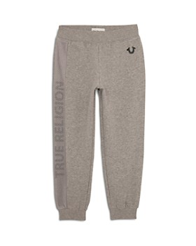 True Religion - Boys' French Terry Jogger Pants with Mesh Panel - Little Kid, Big Kid