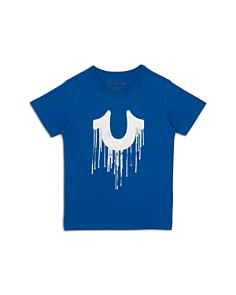 True Religion - Boys' Dripping Horseshoe Graphic Tee - Little Kid, Big Kid